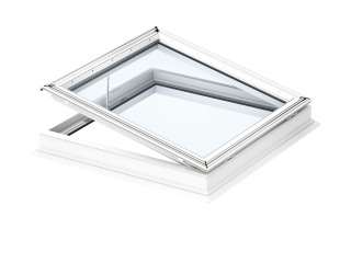 VELUX - CFP 090090 0073QV - Fixed flat roof window, laminated inner pane, PVC construction, 90x90
