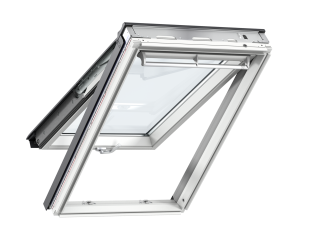 VELUX - GPL MK04 S10W02 - WP top-hung RW, insulated tile flashing, beige duo-blackout blind