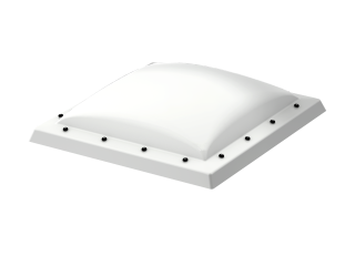 VELUX - ISD 100100 0110 - Opaque PC dome top for FRW, scratch resistant, 0-15 degrees,100x100